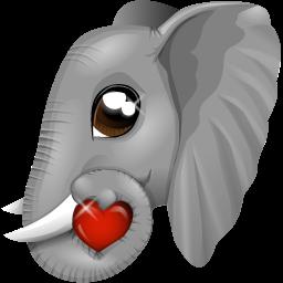 Bildergebnis für elephants with heart
