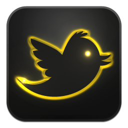 Golden Glow Twitter Icon Png Clipart Image Iconbug Com