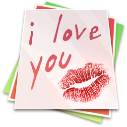 I Love You With Kiss Icon Png Clipart Image Iconbug Com