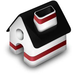 Red And Black 3d Home Icon Png Clipart Image Iconbug Com