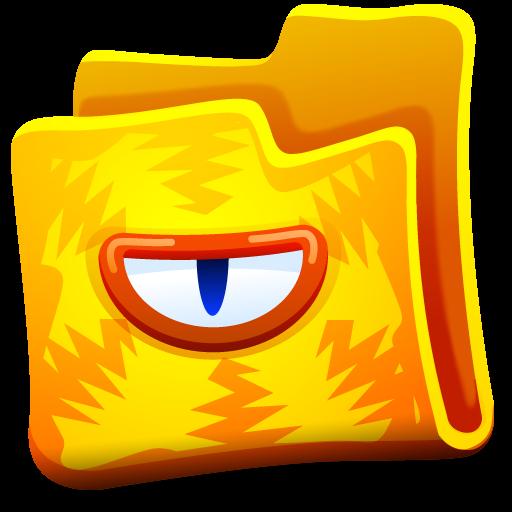 Yellow Monster Folder Icon, PNG ClipArt Image | IconBug.com