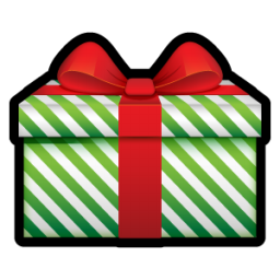 Green stripes christmas gift icon png clipart image iconbug format png negle Gallery
