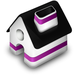 Purple And Black 3d Home Icon Png Clipart Image Iconbug Com