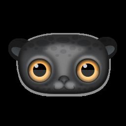Black Leopard Face Icon Png Clipart Image Iconbug Com