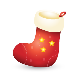 red stocking icon png clipart image iconbugcom