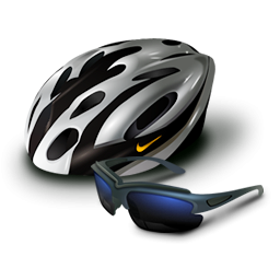 Cycling Helmet And Glasses Icon Png Clipart Image Iconbug Com