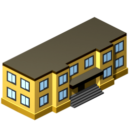 School Building Icon, PNG ClipArt Image | IconBug.com