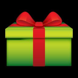 Green Christmas Gift Icon Png Clipart Image Iconbug Com