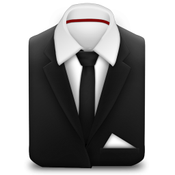 Manager Coat And Tie Black Icon Png Clipart Image Iconbug Com