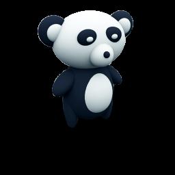 Black And White Panda Icon Png Clipart Image Iconbug Com