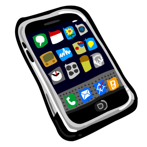 IPhone Painted Icon, PNG ClipArt Image | IconBug.com