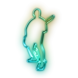 Guitar Player Neon Outline Icon Png Clipart Image Iconbug Com