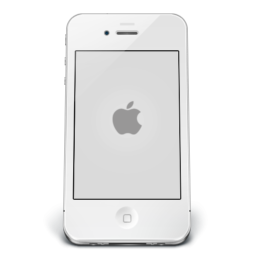 White Apple IPhone Icon, PNG ClipArt Image | IconBug.com