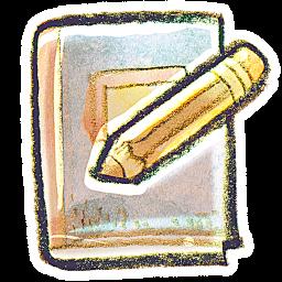 Crayon Book With Pencil Icon Png Clipart Image Iconbug Com