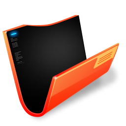 Futuristic Folder Orange Icon Png Clipart Image Iconbug Com