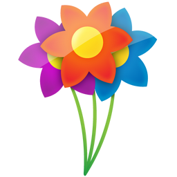 Three Colorful Flowers Icon, PNG ClipArt Image | IconBug.com