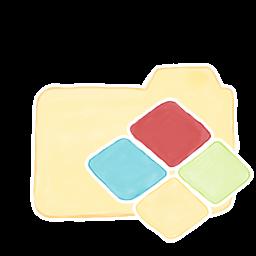 Yellow Folder With Windows Logo Icon Png Clipart Image Iconbug Com