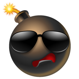 Bomb With Sunglasses Icon Png Clipart Image Iconbug Com