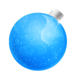 Christmas Blue Ball Icon Png Clipart Image Iconbug Com