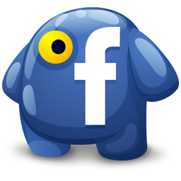 One Eyed Facebook Monster Icon Png Clipart Image Iconbug Com