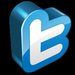 Twitter Letter 3D Icon, PNG ClipArt Image | IconBug.com
