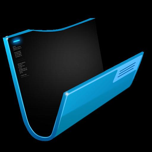 futuristic folder blue icon png clipart image iconbugcom