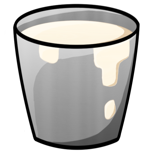 Minecraft Bucket With Milk Icon, PNG ClipArt Image