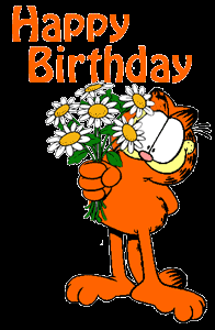 Garfield Happy Birthday Icon Png Clipart Image Iconbug Com