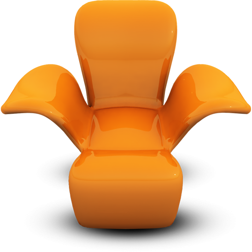 Orange Modern Chair Icon Png Clipart Image Iconbug Com