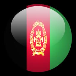 Afghanistan Flag Circle
