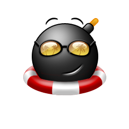 Cool Bomb With Flotation Device Icon Png Clipart Image Iconbug Com