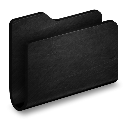 3D Folder Black With Scratches Icon, PNG ClipArt Image ...