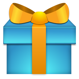 Blue And Yellow Christmas Gift Icon Png Clipart Image