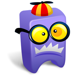 Purple Monster With Glasses Icon Png Clipart Image Iconbug Com
