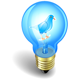 Twitter Bird In A Light Bulb Icon Png Clipart Image Iconbug Com