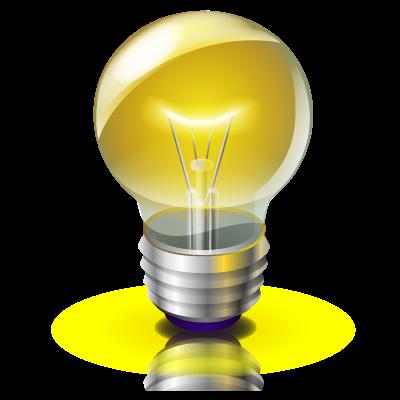 Bright Idea Icon PNG ClipArt Image