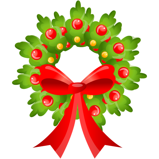 Christmas wreath cute. Icon png clipart image