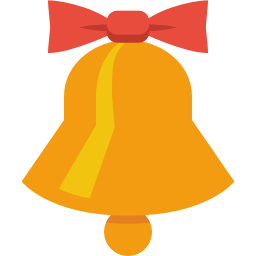 Simple Christmas Christmas Bell Icon Png Clipart Image Iconbug Com