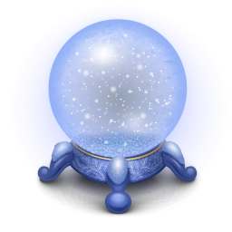 Snowy Weather Crystal Ball Icon Png Clipart Image Iconbug Com