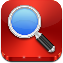 Magnifying Glass On Red Tile Icon Png Clipart Image Iconbug Com