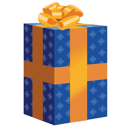 Tall blue christmas gift icon png clipart image iconbug format png negle Images