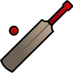 Cricket Bat And Ball Icon