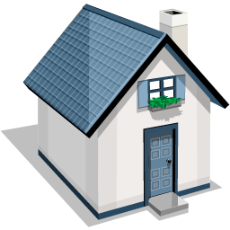 White And Blue House Icon Png Clipart Image Iconbug Com