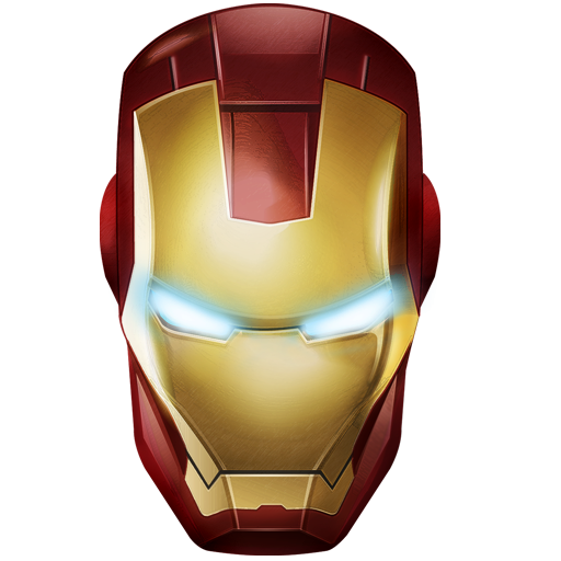 iron man face mask template - iron man icon png clipart image