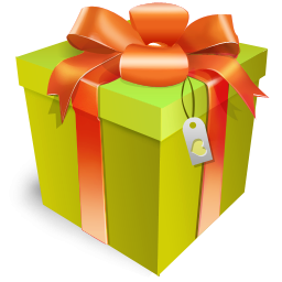 Green gift box icon png clipart image iconbug format png negle Choice Image