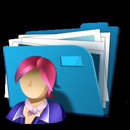 3d Blue Users Folder Icon Png Clipart Image Iconbug Com