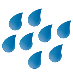 Large Raindrops Icon Png Clipart Image Iconbug Com