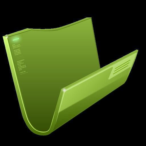 Futuristic Folder Green Icon, PNG ClipArt Image | IconBug.com