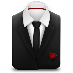 Manager Coat And Tie Black With Rose Icon Png Clipart Image Iconbug Com