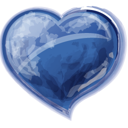 Glossy Blue Heart Icon Png Clipart Image Iconbug Com